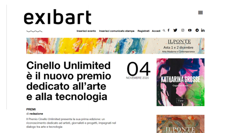 Cinello Unlimited è il nuovo premio dedicato all'arte e alla tecnologia