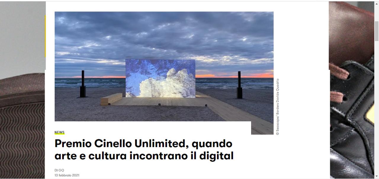 Premio Cinello Unlimited, quando arte e cultura incontrano il digital